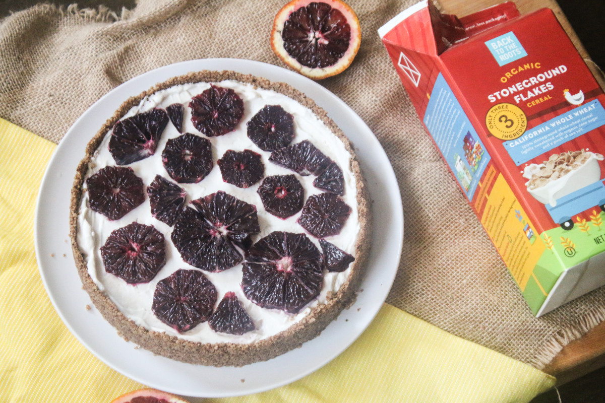 blood orange tart cereal pie crust organic stoneground flakes recipe yogurt