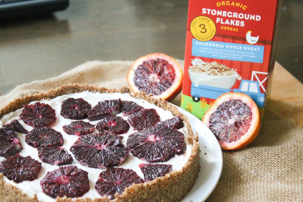 blood orange tart cereal pie crust organic stoneground flakes recipe yogurt