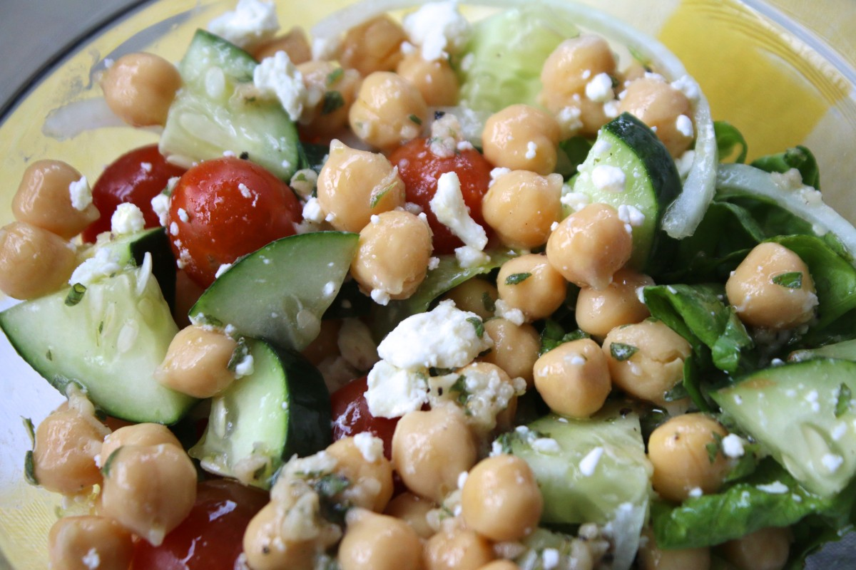 greek salad in a jar dressing herbs fresh recipe