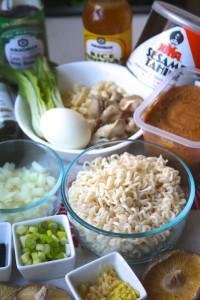 Mushroom Sesame Ramen Umami Ingredients