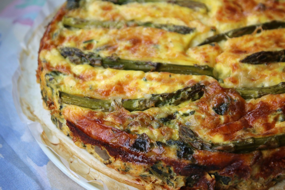 mushroom crustless veggie quiche healthy recipe