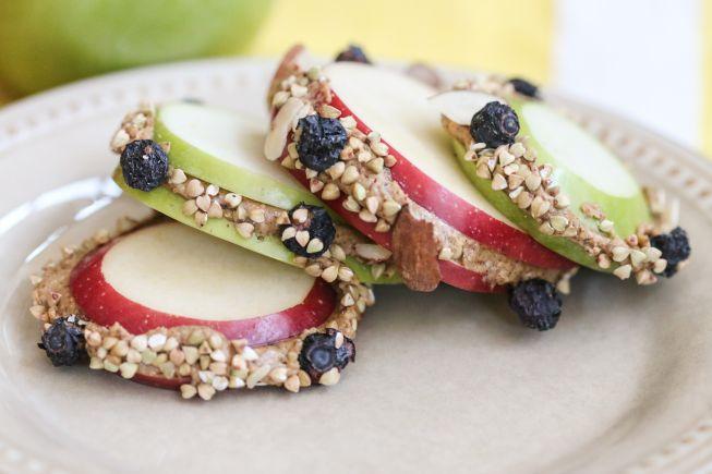 apple nut butter healthy snack breakfast toppers recipe